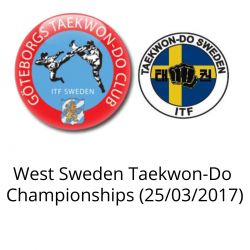 West Sweden Taekwon-Do Championships (25/03/2017)